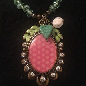 Bronze, Pink & Green Necklace